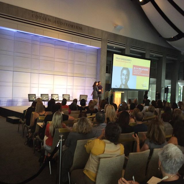 Fran Drescher introducing Dr.V. A. Shiaa Ayyadur at the Women's Health Summit.