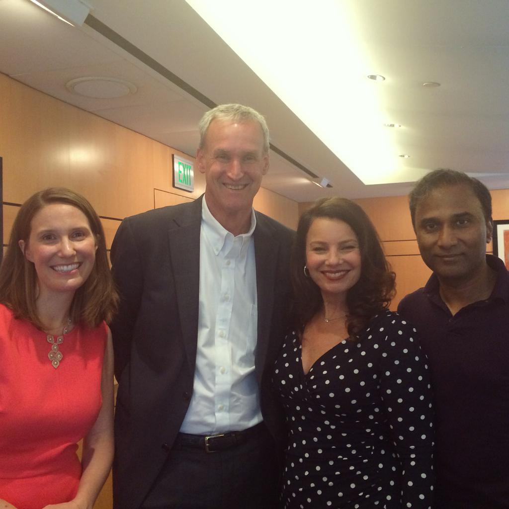 Dr. V.A. Shiva Ayyadurai with Fran Drescher, Bruce Kelley and Olessa Pindak at the Women's Health Summit.
